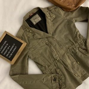 Zara Military Olive Green Utility Jacket Size M